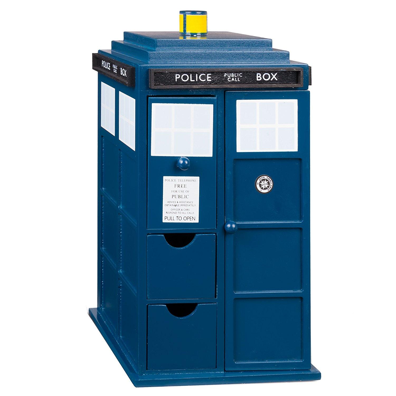 Wood TARDIS Jewelry Box