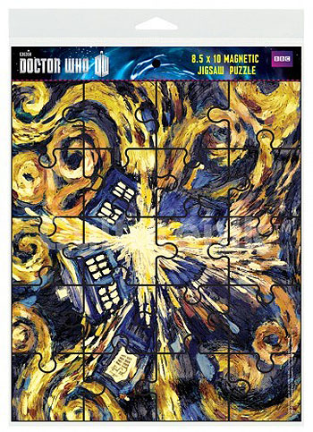 Magnetic Exploding TARDIS Jigsaw Puzzle (8.5 x 10)