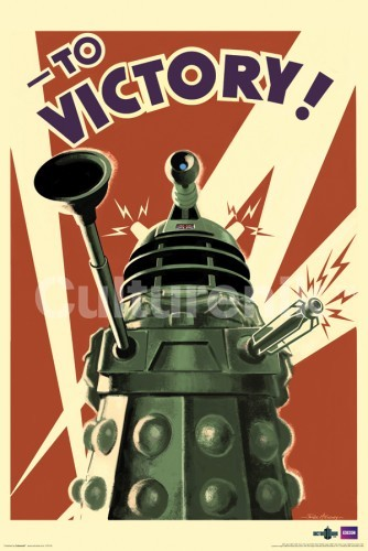 Doctor Who Poster: To Victory!