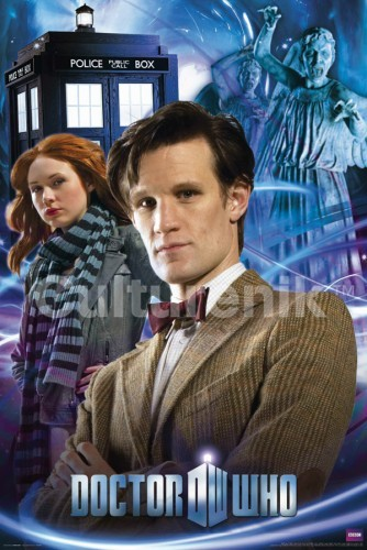 Doctor Who Poster: Doctor, Amy and Angels