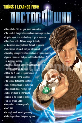 Doctor Who Poster: Things I Learned from Doctor Who