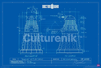 Doctor Who Poster: Dalek Blueprint