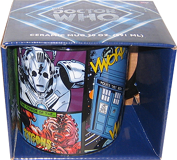 Doctor Who Comic-Style 20 oz Ceramic Mug