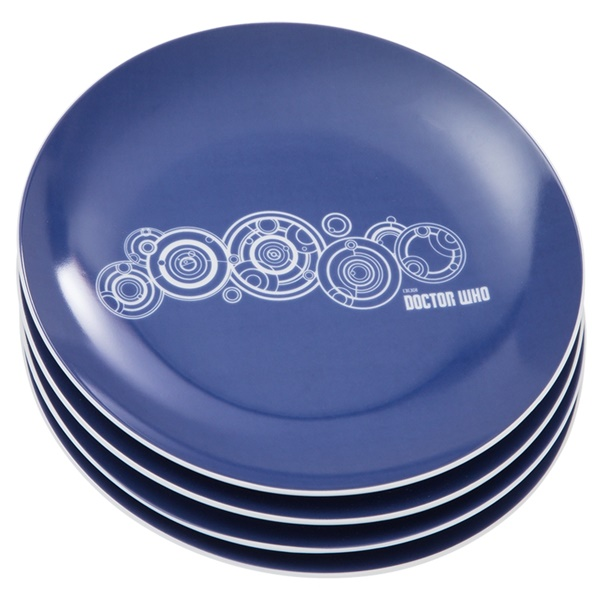 Doctor Who 4 pc. 8 in. Ceramic Salad Plate Set