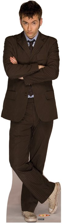 Standee: 10th Doctor, Suit (Shipping Included in Price) - CONTINENTAL USA ONLY