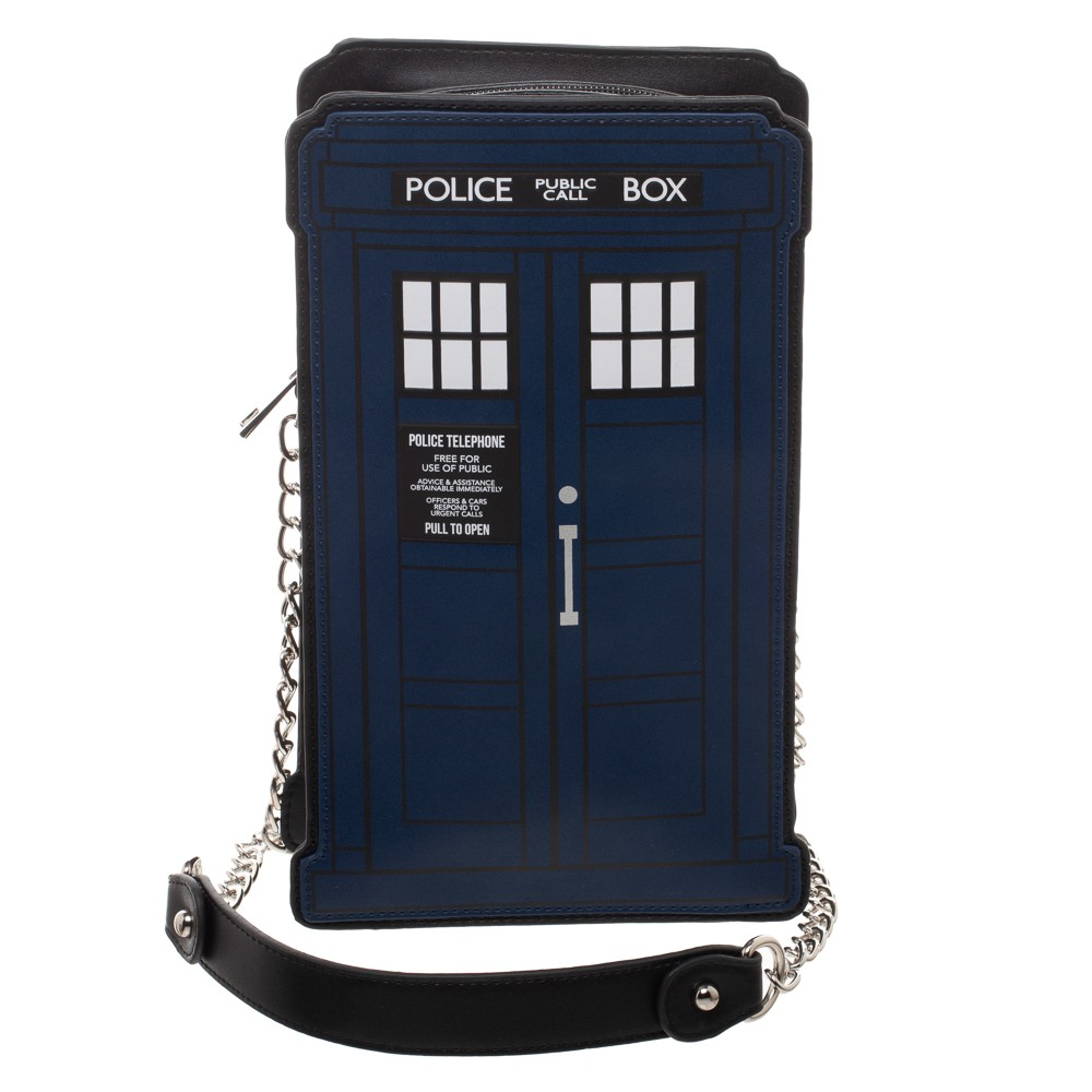 TARDIS-Shaped Purse with Chain Strap