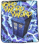 Doctor Who Vworp Velveteen Throw