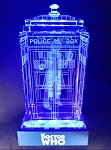 TARDIS with Tom Baker Crystal Carvings with LED Display