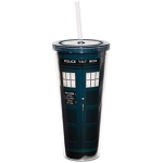 Doctor Who 22oz Acrylic Tumbler with Lid and Straw