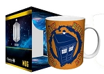 Mug: Wibbly Wobbly Timey Wimey (TARDIS, Orange)