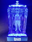 TARDIS with Paul McGann Crystal Carvings with LED Display