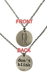 Doctor Who Weeping Angel/Don't Blink Pendant Necklace