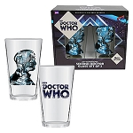 Doctor Who Anniversary Second Doctor 16 oz. Glass Set of 2