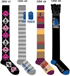 Doctor Who Socks 4 Pair: Ladies Over-the-Knee (Shoe Size 4-10) - Scarf