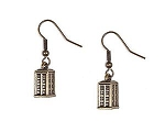 Doctor Who Brass-colored TARDIS Danglers