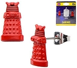 Doctor Who Red Dalek Stud Earrings