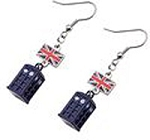 Doctor Who TARDIS with Union Jack Flag Danglers