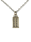 Doctor Who Brass-colored TARDIS Necklace
