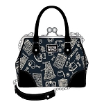 Doctor Who Kisslock Handbag/Purse with Shoulder Strap