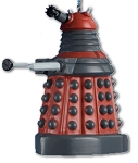 Red Dalek Plastic Christmas Ornament