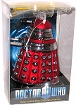 Red Dalek Glass Christmas Ornament