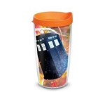 Doctor Who 16oz TARDIS (Orange Lid) Tumbler