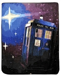 Doctor Who TARDIS/Starry Sky Micro Raschel Throw