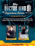 Topps Doctor Who Signature Series Box (4 Packs, 4 Autographs)