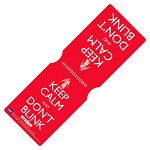 Travel Pass Holder: Keep Calm and Don't Blink