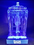 TARDIS with John Hurt Crystal Carvings with LED Display
