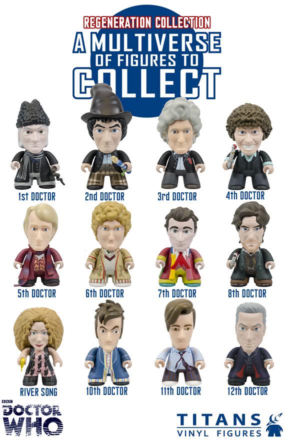 Titans Doctor Who Vinyl Figure Regeneration Wave