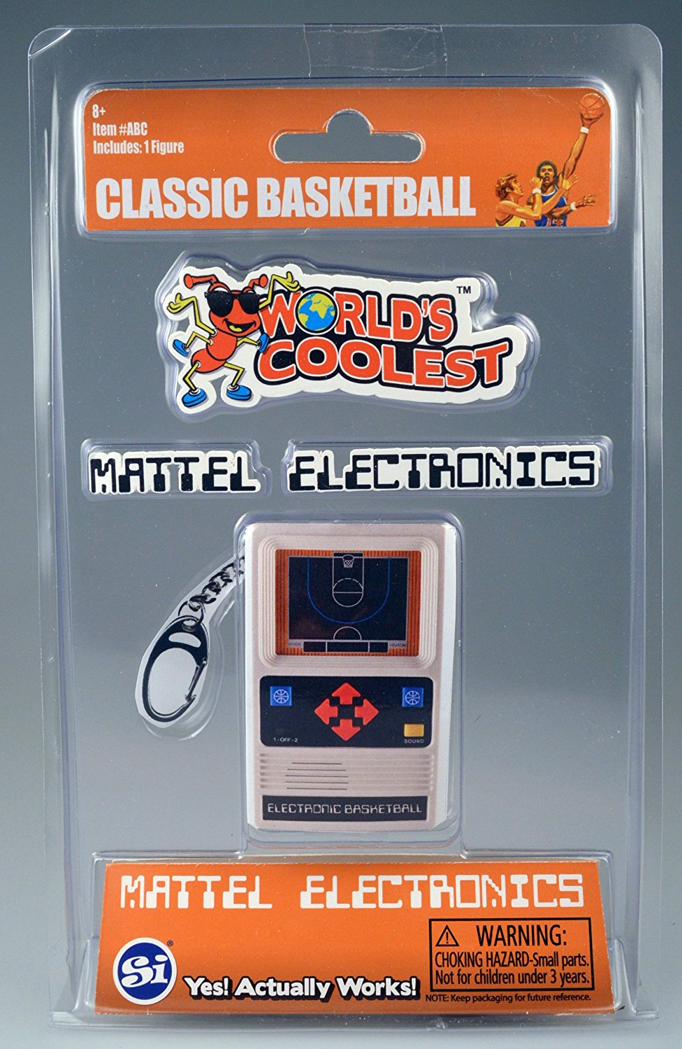 World's Coolest Mattel Electronics Basketball Keychain
