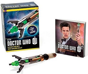 Eleventh Doctor Sonic Screwdriver Figurine and Illustrated Book