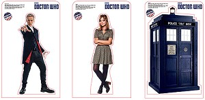 12th Doctor, Clara, and TARDIS Mini Standee Set