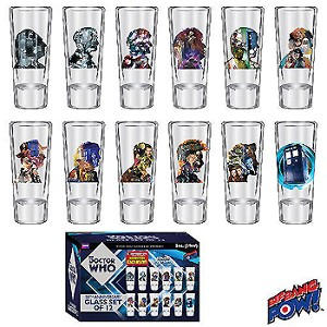Doctor Who 50th Anniversary Set of 12 2oz Glasses