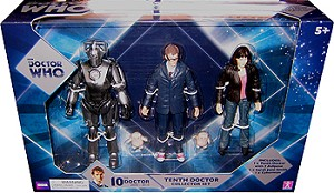 "5"" Tenth Doctor Collector Set (Cyberman, 10th Dr,  Sarah, 2 Adipose)"