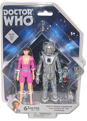 "5"" Peri and Rogue Cyberman Figure Set"
