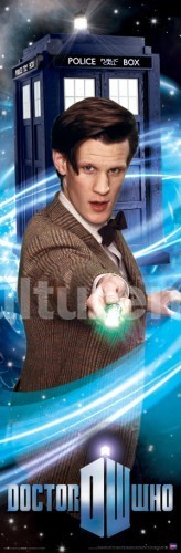 Doctor Who Poster Runner: Matt Smith Doctor with Sonic
