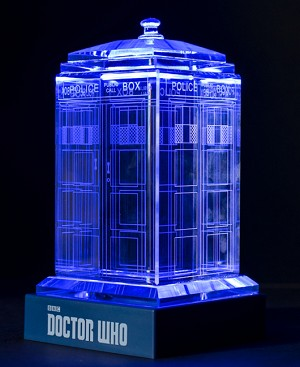 TARDIS Crystal Carvings with LED Display