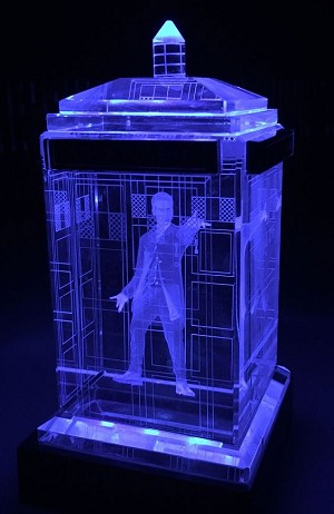 TARDIS with Peter Capaldi Crystal Carvings with LED Display
