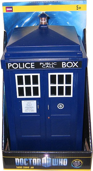 11th Doctor's TARDIS Talking Cookie Jar