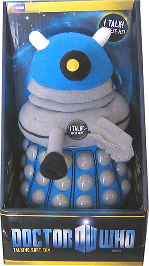 Doctor Who Blue Dalek Talking Plush Toy