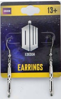 Earrings: Sonic Screwdriver Danglers