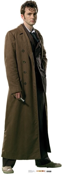 Standee: 10th Doctor, Trenchcoat (Shipping Included in Price) - CONTINENTAL USA ONLY