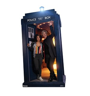Standee: Doctor and Bill Potts in TARDIS (Shipping Included in Price) - CONTINENTAL USA ONLY