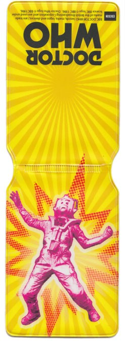 Travel Pass Holder: Cyberman Yellow Pop Art