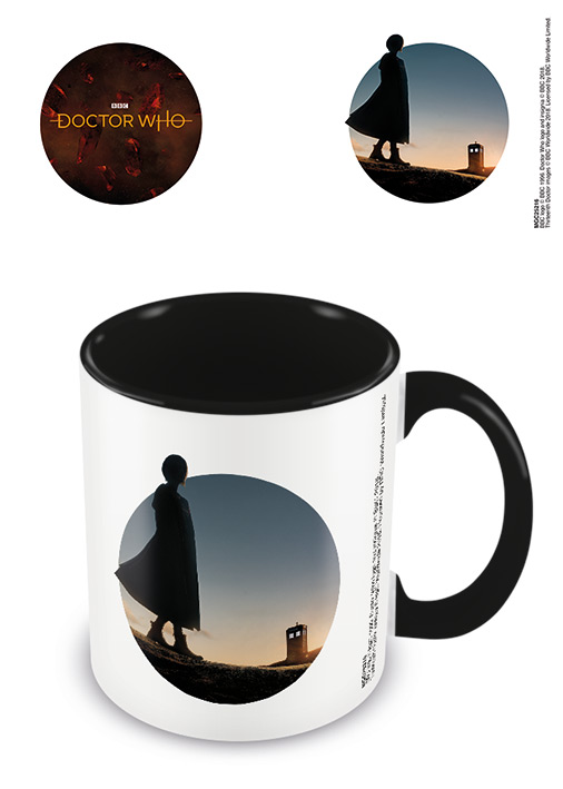 Doctor Who Jodie Whittaker 13th Doctor Mug: Circle Silhouette