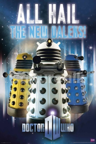 Doctor Who Poster: All Hail the New Daleks