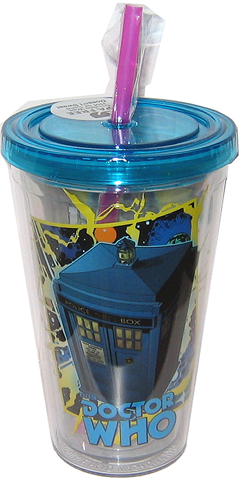 Doctor Who Comic-Style Tumbler with Lid and Straw