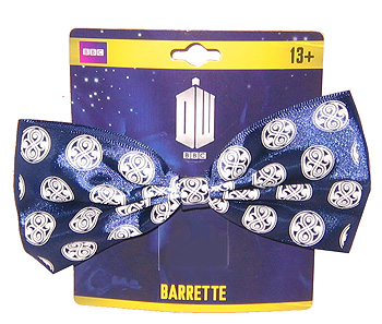 Barrette: White Gallifrey Emblems